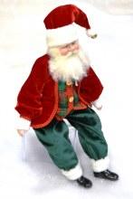 18in Santa Sitting Red/Dk Gree