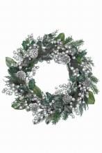 decorated wreath silver glit