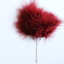 Fluff Feathers Claret x6