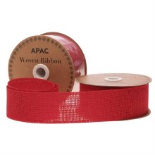 Ribbon Woven Red (50mm)