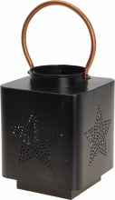 LANTERN 140X185MM BLACK METAL