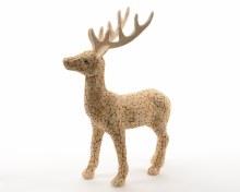 birch wood mosaic reindeer