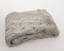acrylic throw knitted