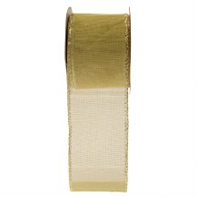 Gold Wired Edged Ribbon