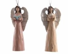 poly angel w hanger wood 2ass
