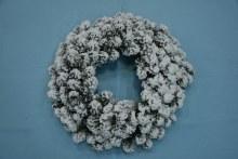 Flock Natural Emerald Spruce Wreath 60cm