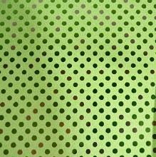 Paper Roll Metallic Green Spot
