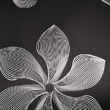 Flower stencil design paper (70cm x 50m/Black)