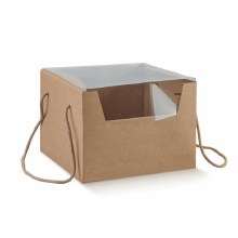 Box with Tranparency Natural -Avana (24.5x24.5x18)