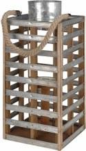 Lantaarn Wood With Metal