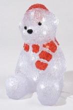 LED acrylic bear w scarf ou GB