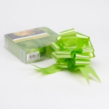 Pull Bow 50mm Lime Green (x20)