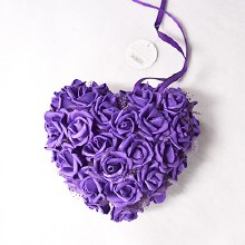 Double Rose Cluster Heart Cad