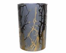 Glass tealightholder sandblasting tree