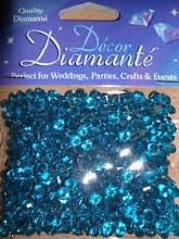 Decor Diamante 6mm Sapphire Bl