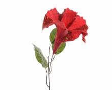 silk trumpet flower on stem w