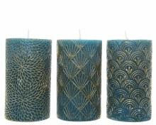 wax pillar with design