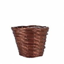 Basket Round Woodhouse Nut Brown 25cm