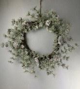 Pine Wreath Snowy Green 50cm