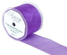 Finesse wired ribbon (70mm x 20m/Purple)