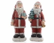 poly magn Santa w glitter 2ass