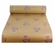 Kraft Paper Nat Pollyanna Green/Lilac (50cmx100m)