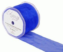 Finesse wired ribbon (70mm x 20m/Royal blue)