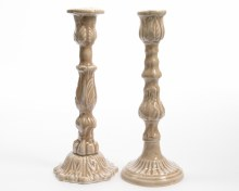 Iron candleholder embossed (2 assorted)