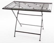 iron table foldable