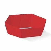 Red Tray Hexagon -Vassoio E. Lino Rosso(29x23x8.5)