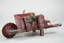 Wood Wheelbarrow w.Snow