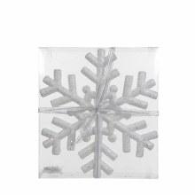 ORNAMENT SNOWFLAKE H30 WHITE