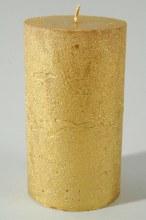 pillar candle metallic rustic