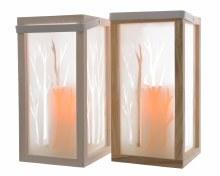 LED wooden lantern 2cls ind bo