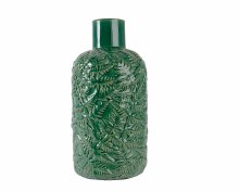 Stone vase with leaf pattern