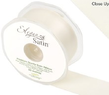 Double Faced Satin 38mm Ivory
