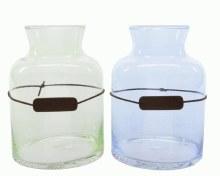 gl vase w leather label 2colas