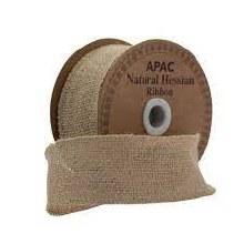 Ribbon Rustic Hessian Natural (50mm)