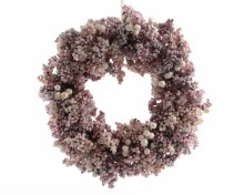 berry wreath with ice finish