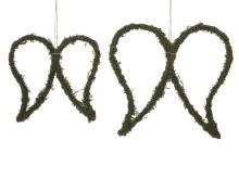 iron wings w hanger w moss
