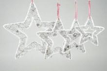 Rattan Star w.hanger Glitter