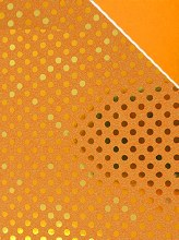 Paper rolls polka dot (100cm x 70m/Orange)