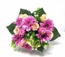 Bush Gerbera/Rose Bud/Protea Mauve x22