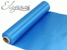 Eleganza satin fabric (29cm x 20m/Blue)