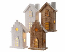LED wooden house 4ass 2clas bo