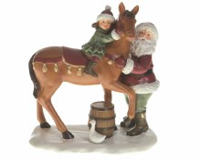 poly Santa w child and horse