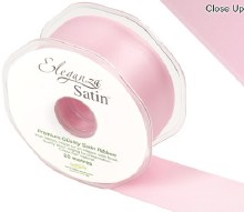 Double Faced Satin 38mm Light Pink