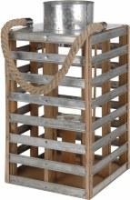 Lantern Wood With Metal