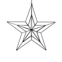 ORNAMENT STAR L47.5W10H100 BLA