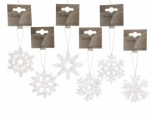snowflake with hanger 6ass